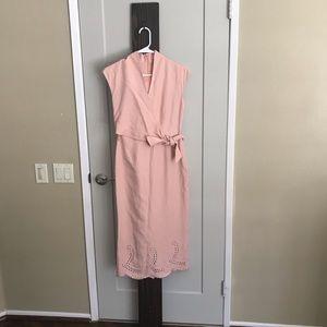 Pink Jones New York midi dress